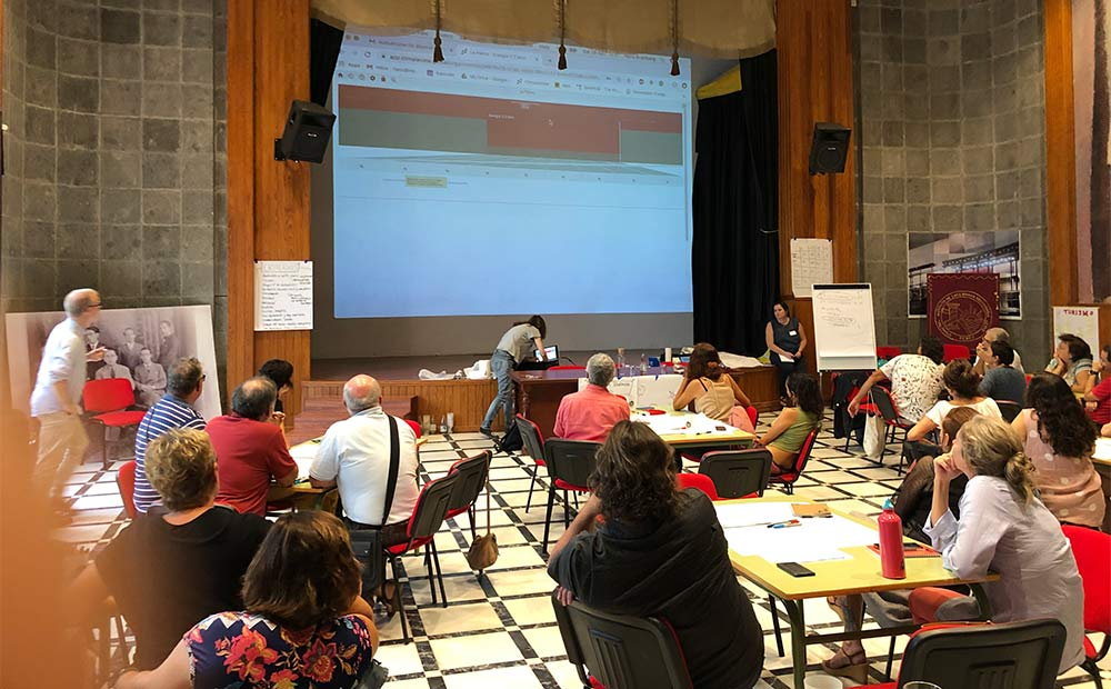 The workshop was initiated by the citizen initiative La Palma Renovable